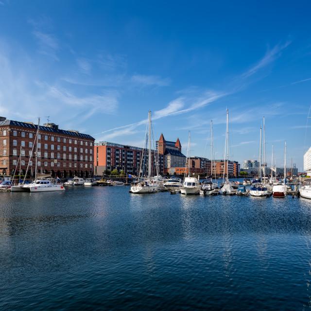 """Boat Harbor Copenhagen"" stock image"