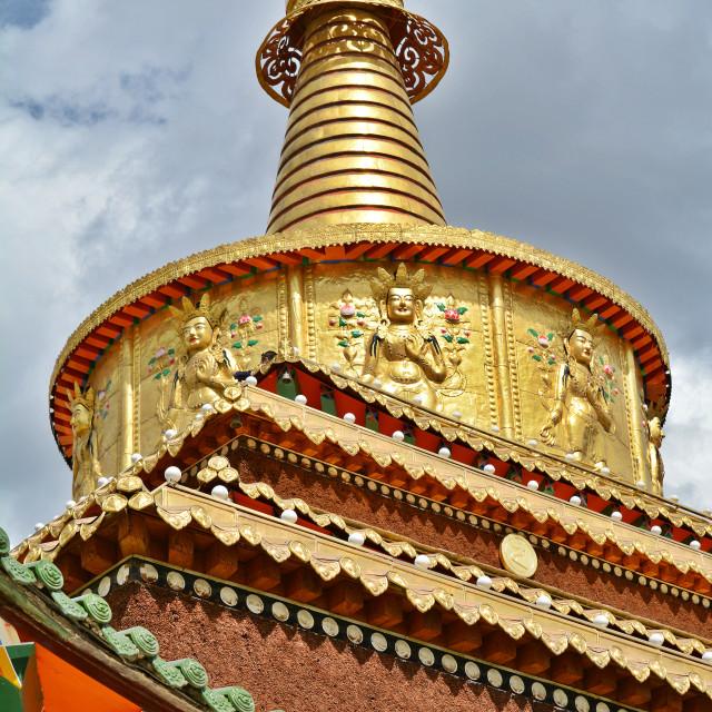 """Golden Pagoda"" stock image"