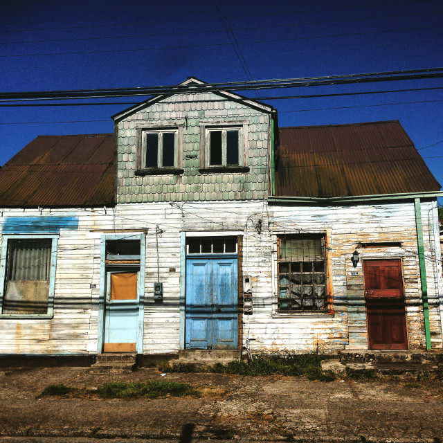 """A house in Puerto Montt"" stock image"