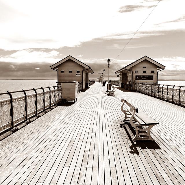 """""""Nostalgic Pier"""" stock image"""