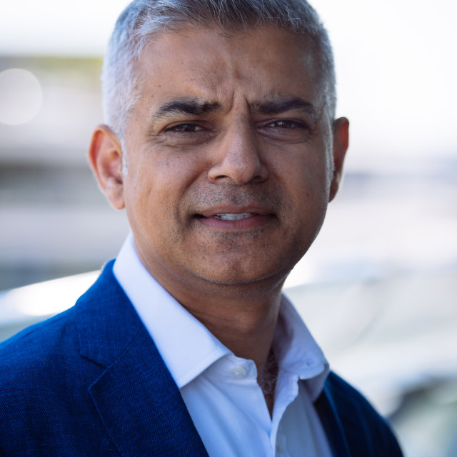 """Sadiq Khan Mayor of London"" stock image"