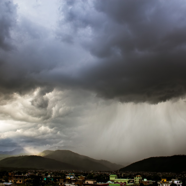 """""""About To Rain..."""" stock image"""