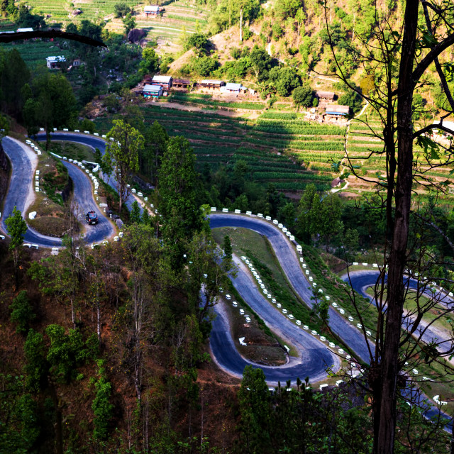 """""""The Winding Road I"""" stock image"""