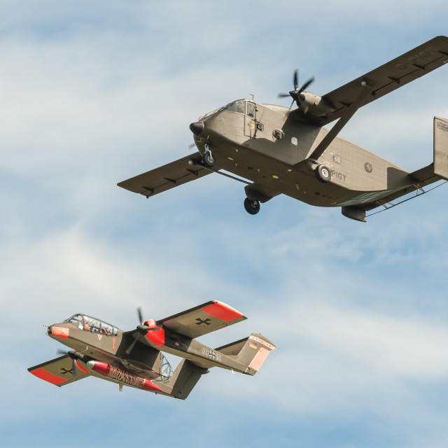 """Skyvan and Bronco"" stock image"