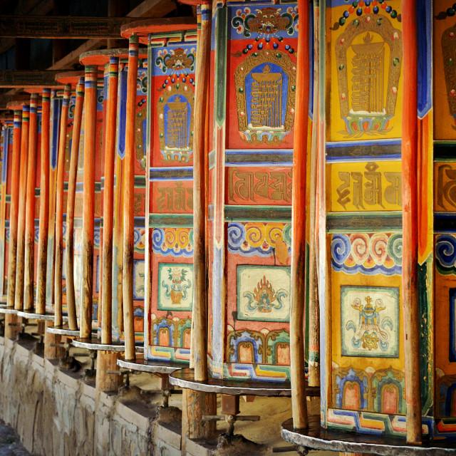 """Tibetan Prayer Wheels"" stock image"