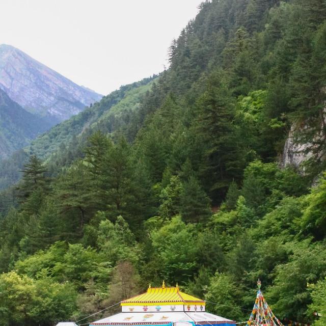 """Traditional Tibetian Tent"" stock image"