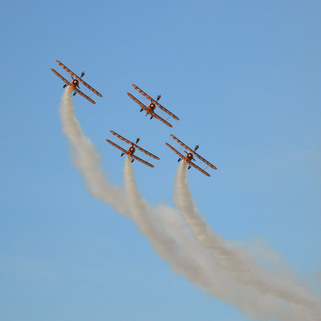 """""""Wing Walkers"""" stock image"""