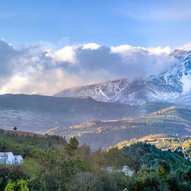 """Landscape of el Pico de Orizaba in Orizaba, Mexico"" stock image"
