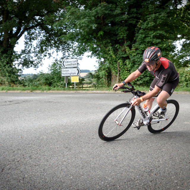 """Outlaw Triathlon 2016,Nottinghamshire."" stock image"