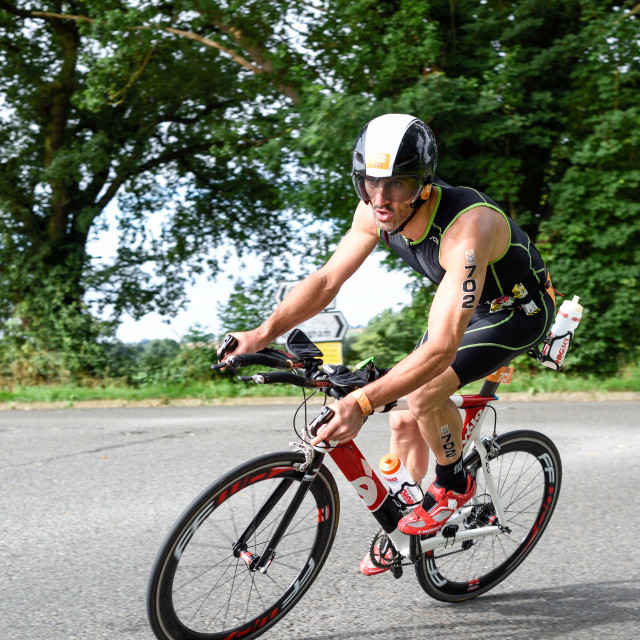 """Outlaw Triathlon 2016,Nottinghamshire."" stock image"