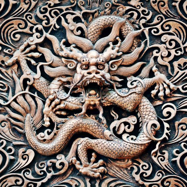 """""""Metal Dragon"""" stock image"""