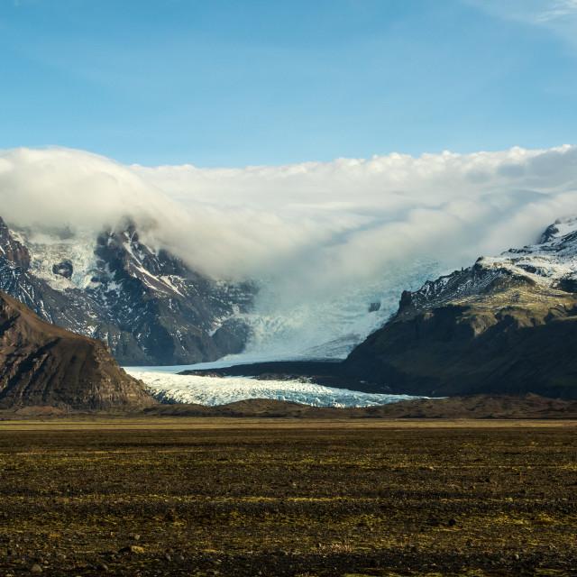 """Skeidararjokull Glacier, Iceland"" stock image"