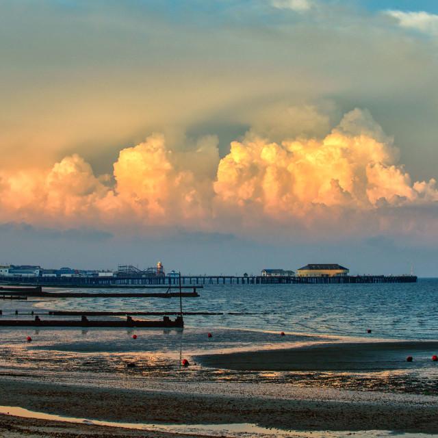 """Storm Clouds Over Clacton Pier"" stock image"