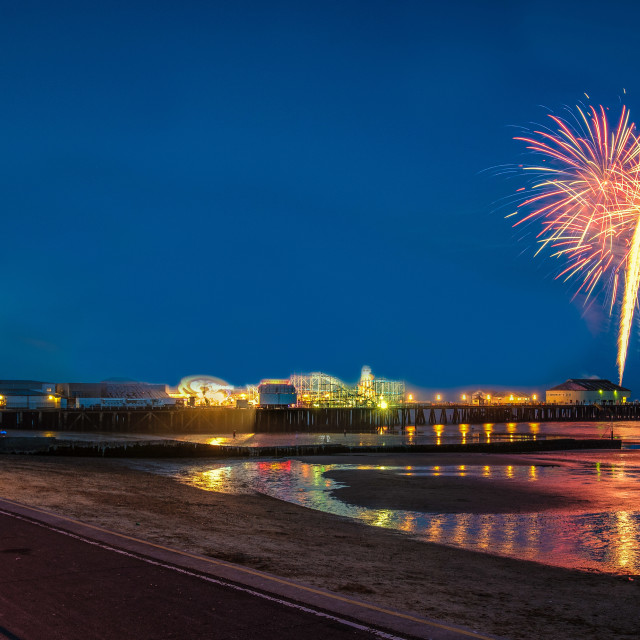 """""""Clacton Pier Fireworks July 2016"""" stock image"""