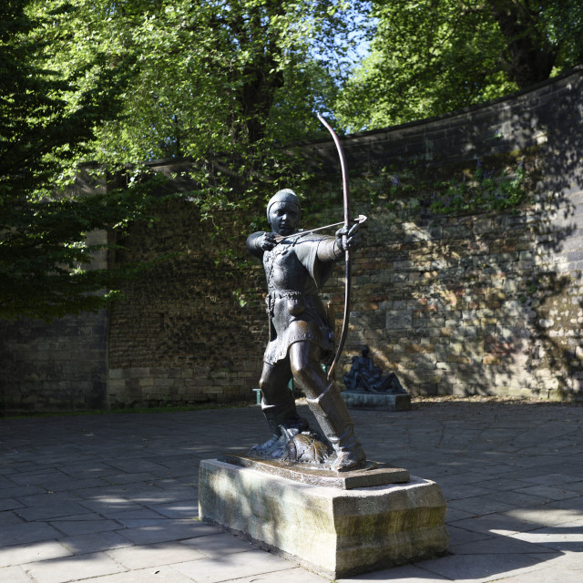 """The Robin Hood Statue"" stock image"