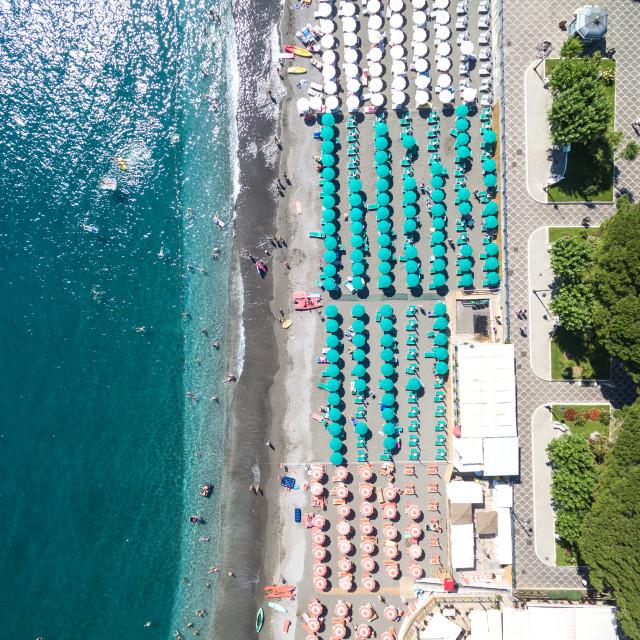 """Top View of Maiori, Amalfi coast, Italy"" stock image"