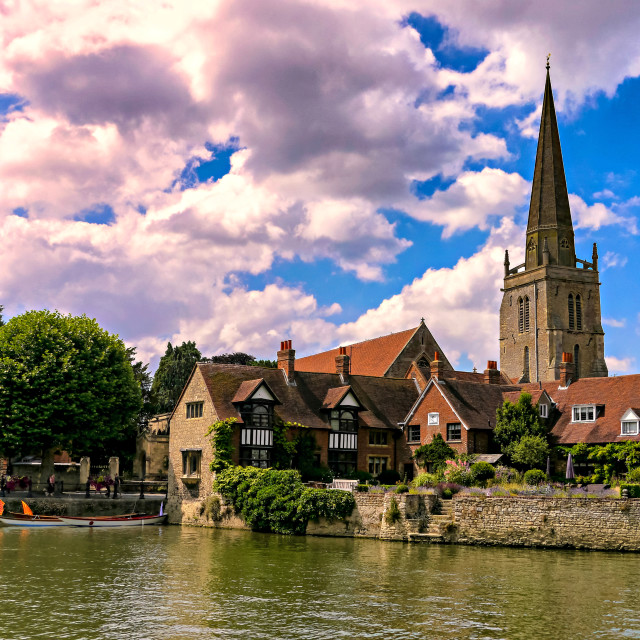 """""""Along the Thames."""" stock image"""