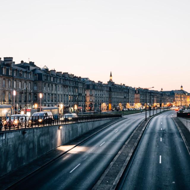"""Sunset on Bordeaux"" stock image"