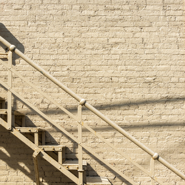 """""""Stairs and Brick Wall"""" stock image"""