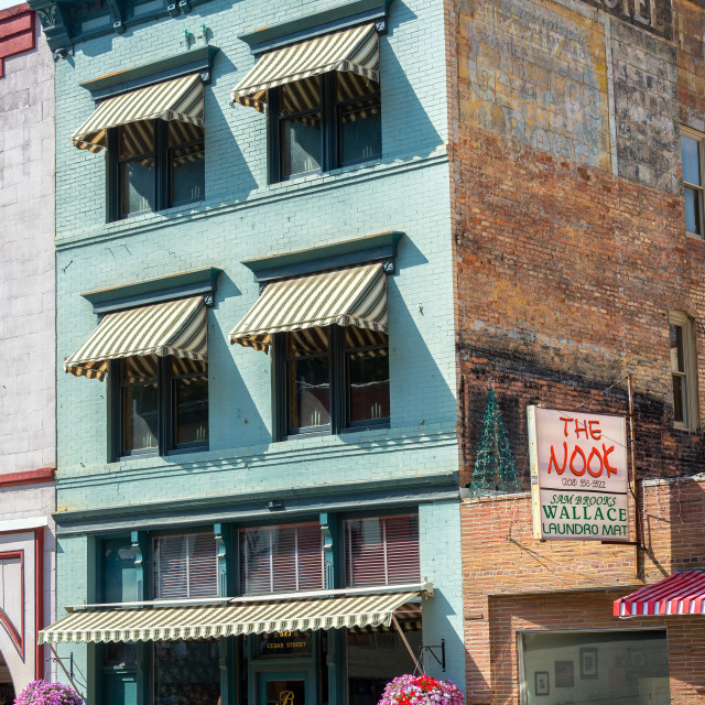 """""""Historic Building in Wallace, Idaho"""" stock image"""
