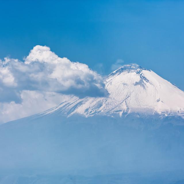 """The Popocatepetl Volcano in Puebla, Mexico"" stock image"