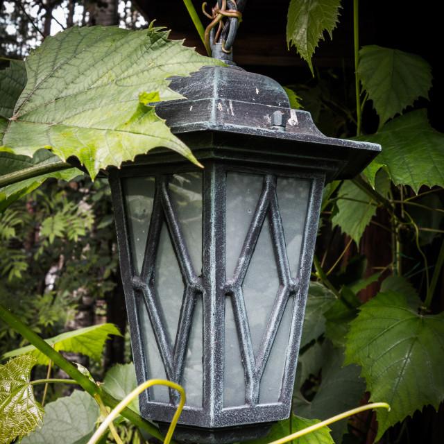 """Hanging streetlight"" stock image"