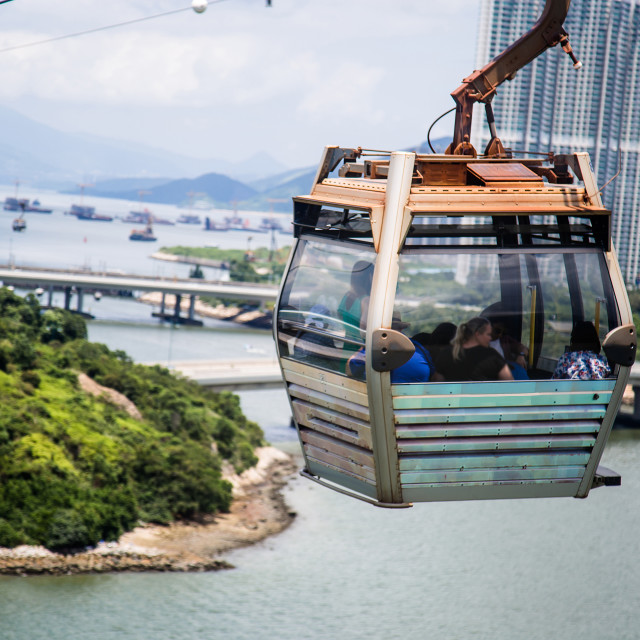 """Nong ping cable car"" stock image"
