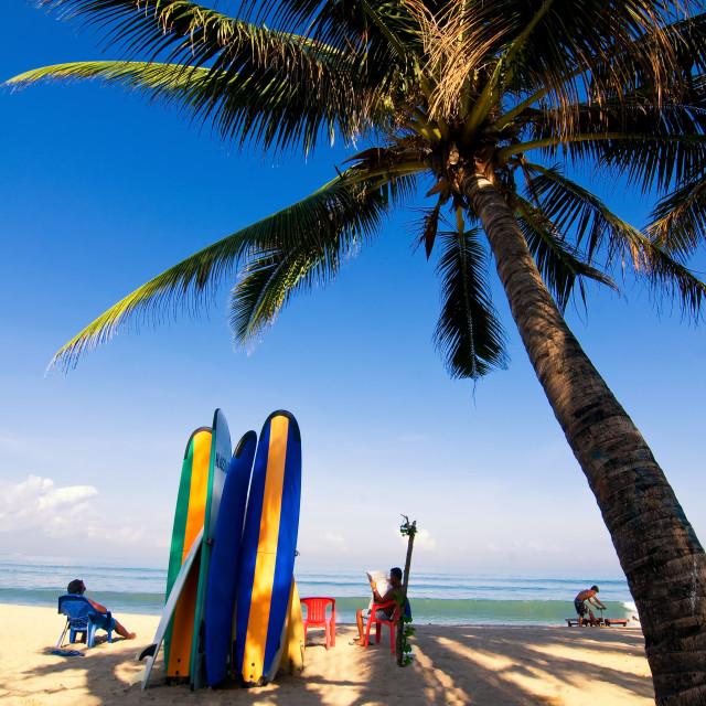 """Kuta Beach in Bali island, Indonesia"" stock image"