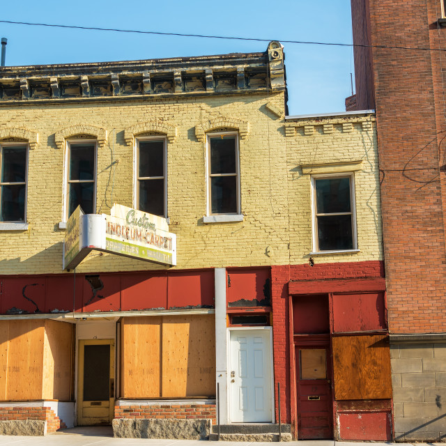 """Abandoned Storefronts"" stock image"