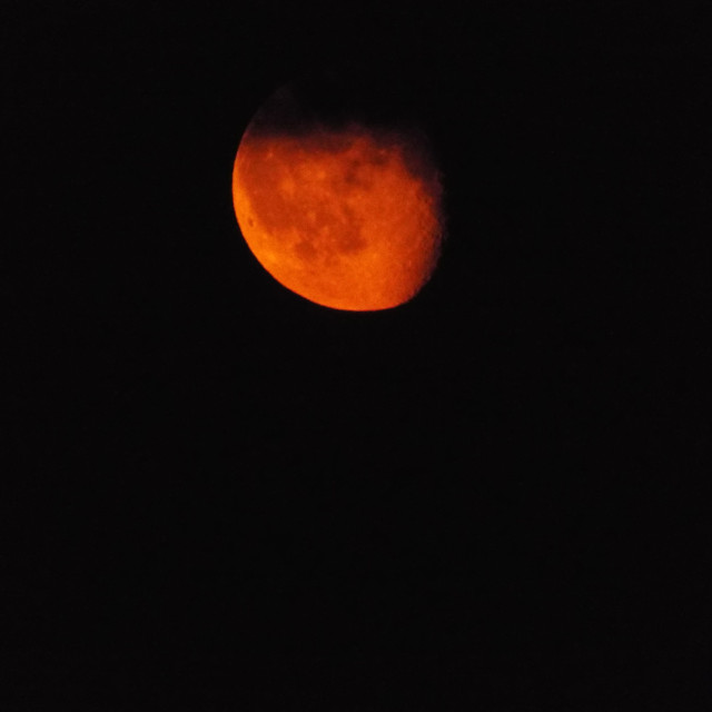 """Orange Moon"" stock image"