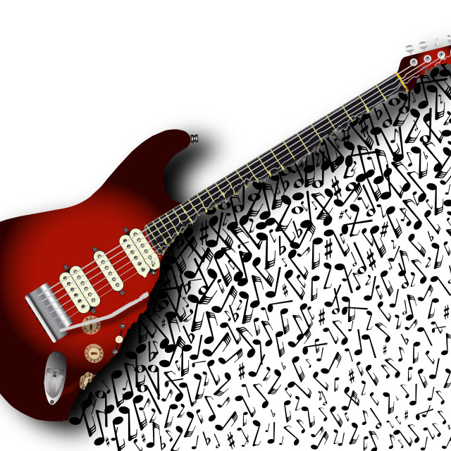 """""""Musical Guitar Background"""" stock image"""