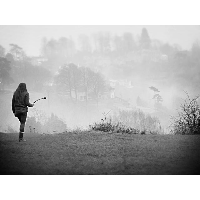 """""""Misty morning walk"""" stock image"""