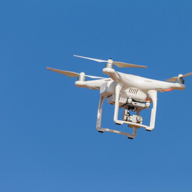 """Drone Camera Blue Sky"" stock image"