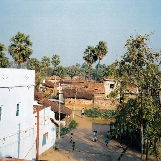 """Village life 1"" stock image"