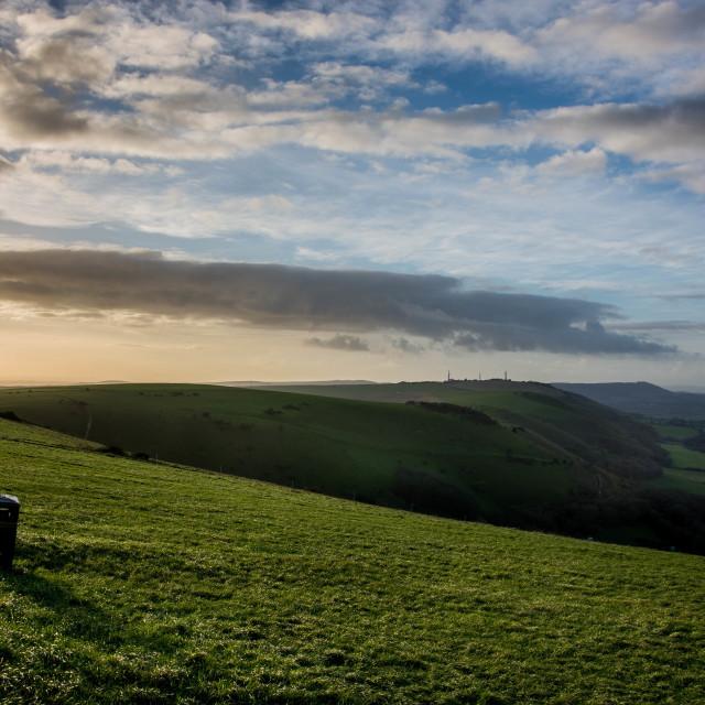 """Devils Dyke, England"" stock image"