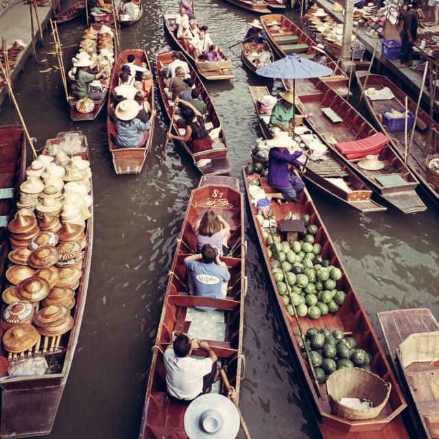 """""""Rajaburi Floating Market, Thailand"""" stock image"""