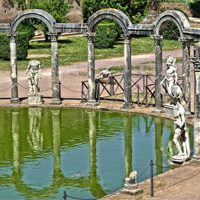 """""""Villa Adriana, Tívoli"""" stock image"""