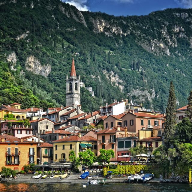 """Varenna, Lago di Como"" stock image"