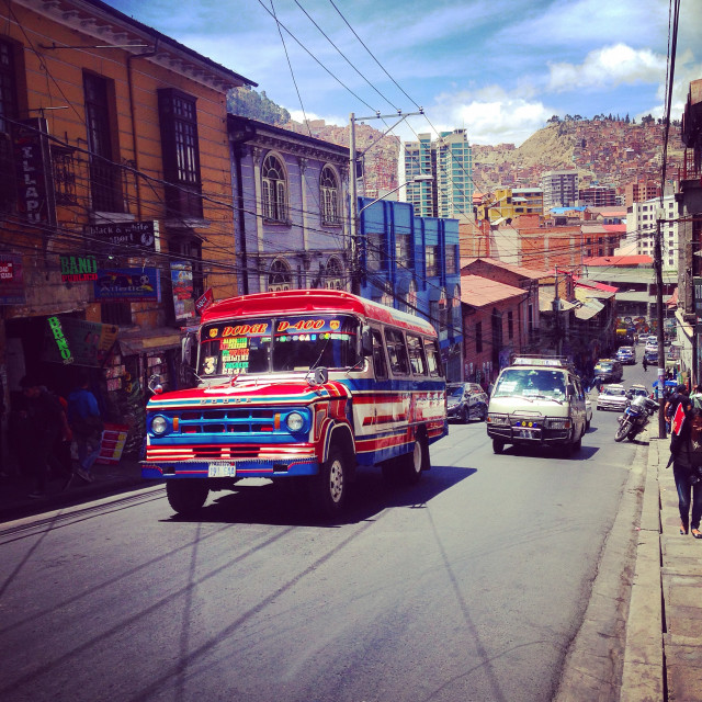 """Local bus in La Paz"" stock image"