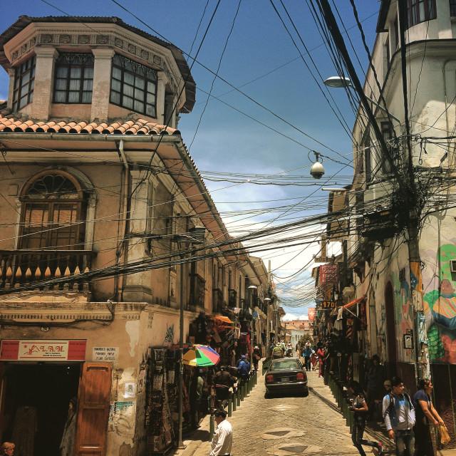 """Street La Paz"" stock image"