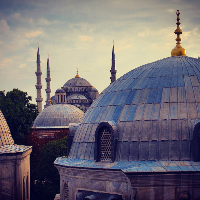 """Window view from Eyüp Sultan Camii"" stock image"