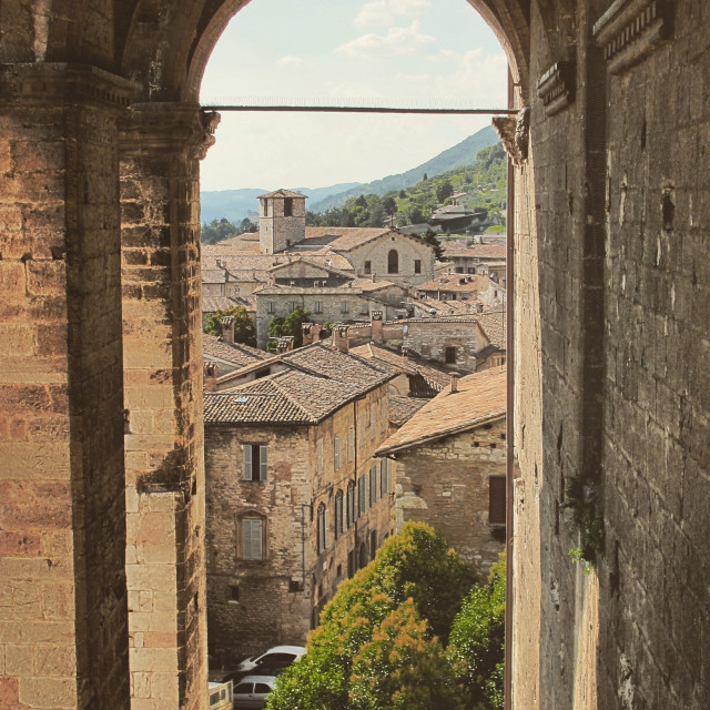 """A glimpse of Gubbio"" stock image"