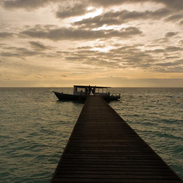 """Docked Boat"" stock image"