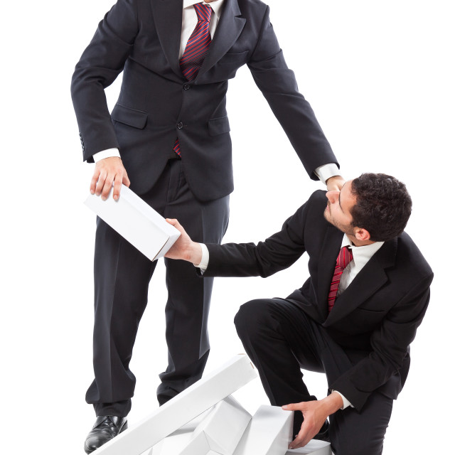 """helping out a colleague"" stock image"