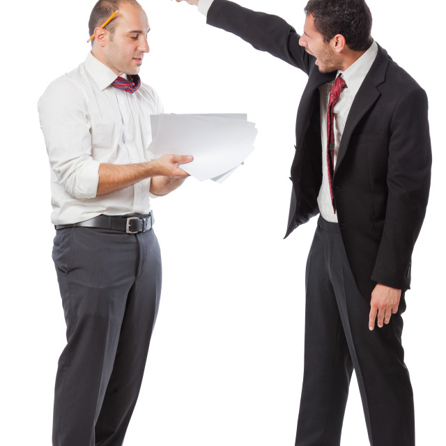 """""""You are fired!"""" stock image"""