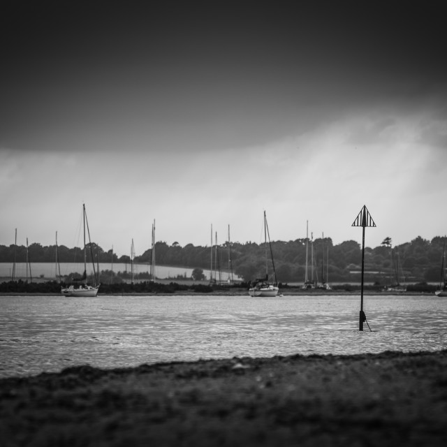 """Masts & Sunrays"" stock image"