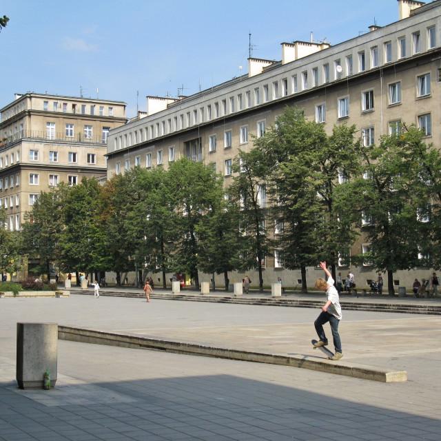 """""""Nowa Huta, Kraków"""" stock image"""