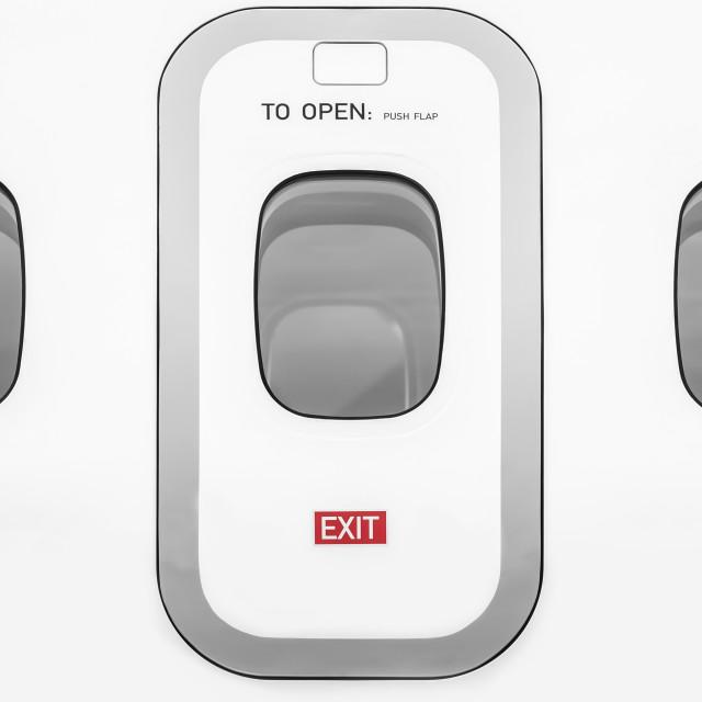 """aircraft cabin door"" stock image"