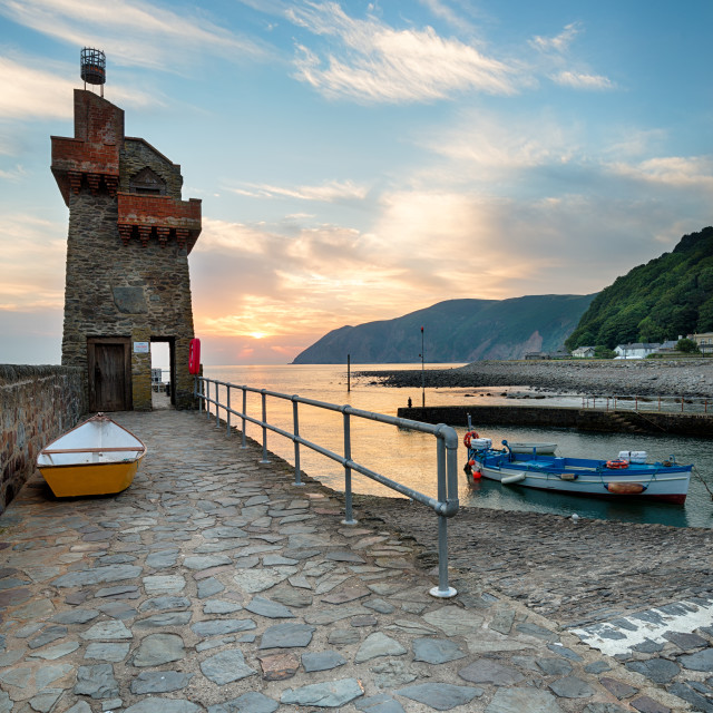 """""""Lynmouth at Sunrise"""" stock image"""