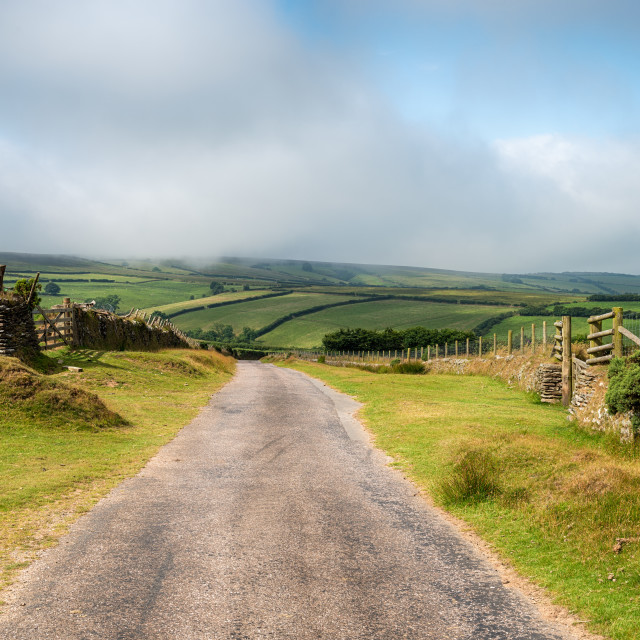 """Country Lane on Exmoor"" stock image"